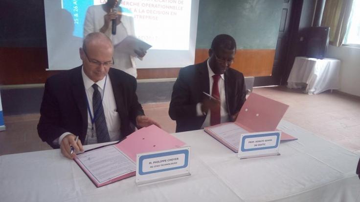 signature de convention Esatic CFAO 2